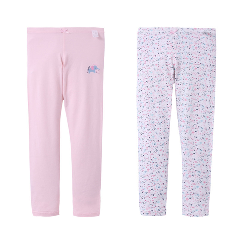 A Class On Behalf Of Children Long Johns Cotton Girls 2 Packaged In The Shape Of Bars Floral-Print Baby Elephant Home Wear Warm