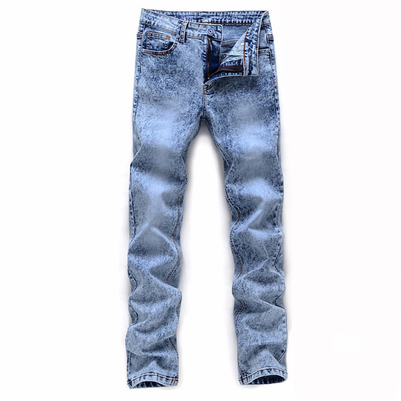 2019 Men's Skinny Jeans Gray/blue Denim Jeans New Fashion Men Pencil Pants Slim Jeans Men Skinny Long Jeans