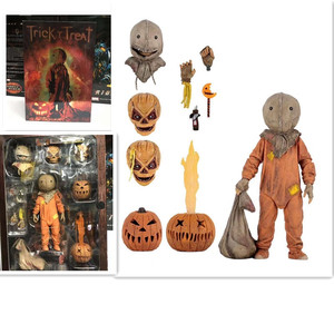 Image 1 - 18cm NECA Trick R Treat Sam Clothed With Bag Lollipop Halloween 2007 Action Figure Classic Film Movie Toys Christmas Doll Gift
