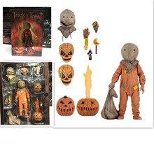 18cm NECA Truc R Behandelen Sam Gekleed Met Zak Lolly Halloween 2007 Action Figure Classic Film Film Speelgoed Kerst pop Gift