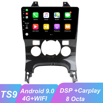 ​OKNAVI 9'' Android 9.0 Car Radio Multimedia Video Player For Peugeot 3008 2009-2015 Navigation GPS 2 Din WiFI 4G Camera No Dvd image