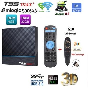 T95 MAX Plus s905x3 Android 9 0 TV pudełko inteligentny zestaw pudełkek pod telewizor 4G 32G 64G podwójny Wifi 8K HDR 60fps odtwarzacz multimedialny tanie i dobre opinie 100 M CN (pochodzenie) Amlogic S905X3 64 GB eMMC Brak 4G DDR3 T95 MAX+ DC 5 V 2A Karty TF Do 128 GB ARM Mali-G31MP Wliczone w cenę