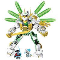 Seria NINJA Lloyd's Titan Mech Robot klocki klocki Model dzieci miasto klasyczne zabawki kompatybilny lepining Marvel Movie