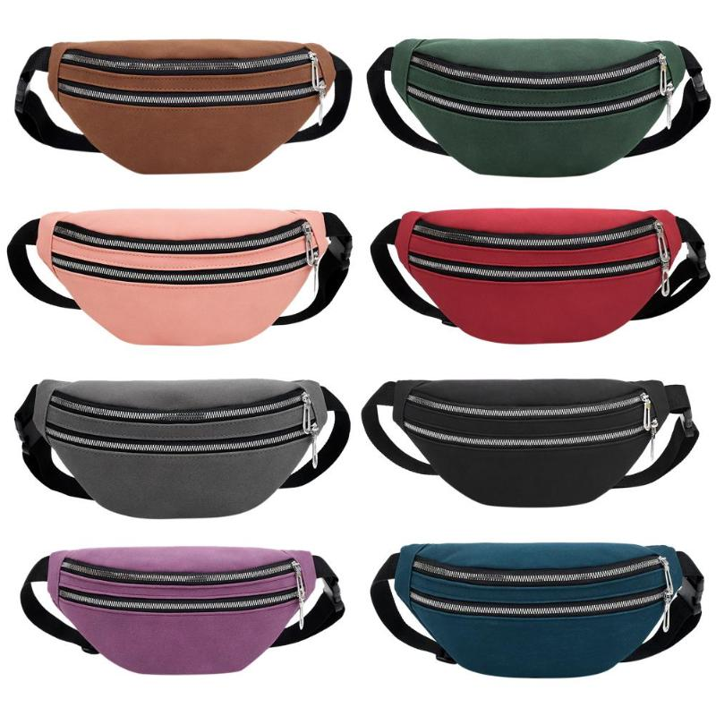 Hot Sale Waist Packs Classic Delicate Casual Fanny Chest Bag Women Suede Waist Belt Pack Zipper Shoulder Crossbody Bag