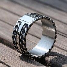 Vintage Schwarz Silber Farbe Buddha Ring Bedeuten Frauen Edelstahl Biker Ring Mode Hochzeit Band Schmuck Fahrrad Ringe Schmuck