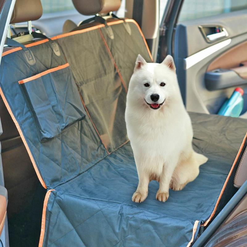 Waterproof Orange Edge Pet Car Mats New and High Quality Oxford Fabric Lightweight and Delicate Dog Car Back Seat Cushion