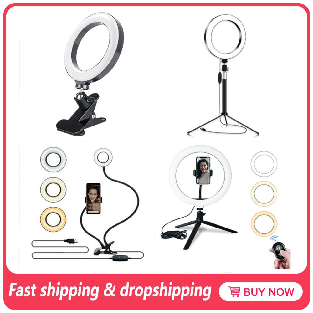 Led Ring Lights Led Makeup Selfie Ring Light Phone Stand Holder For Ring Light Tripod For TikTok Photography Dropship Suppliers(China)