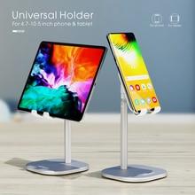 Vothoon mesa titular do telefone móvel suporte para iphone universal ajustável mesa de mesa metal tablet suporte para ipad pro