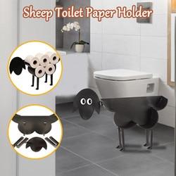 Черная овца кошка собака держатель для туалетной бумаги Бумага Ванная комната железа хранения стоячий ремесла рулон Бумага Полотенца Holder55 ...