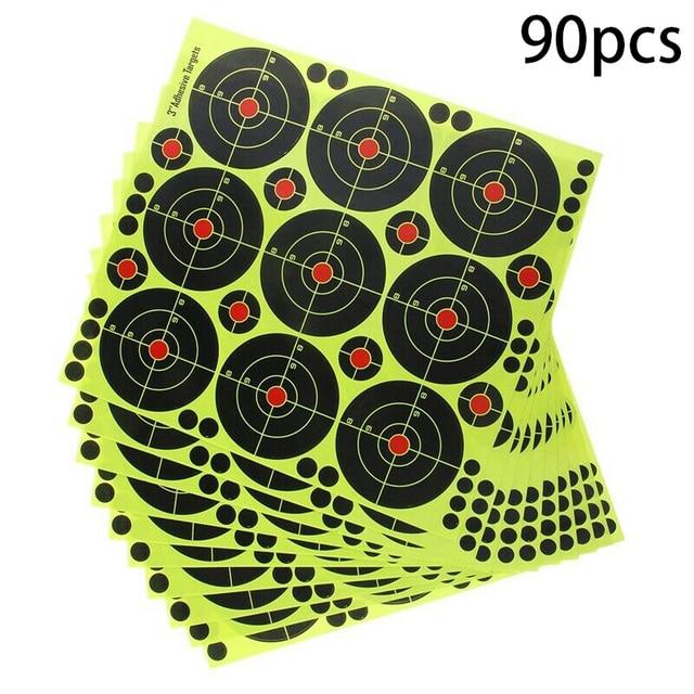90Pcs 3 Inch Targets Reactive Splatter Paper Target for Archery Targeting for short / long distance targeting 2