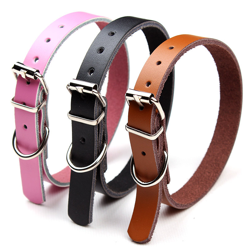 Dog Cow Leather Collar Cat Collar Bite-proof Protector Pet Supplies Teddy VIP Small Dogs Neck Ring