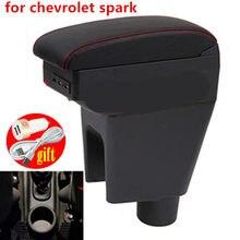 Подлокотник для автомобиля chevrolet spark, кожаный подлокотник для стайлинга автомобиля, подлокотник для центральной консоли, аксессуары для укр...