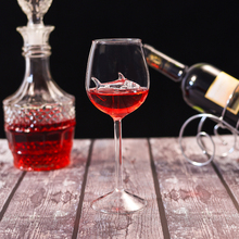 High Heel Shark Red Wine Cup Lead Free Crystal Glass Romantic Shark Style Red Wine Cup Gift new цена и фото