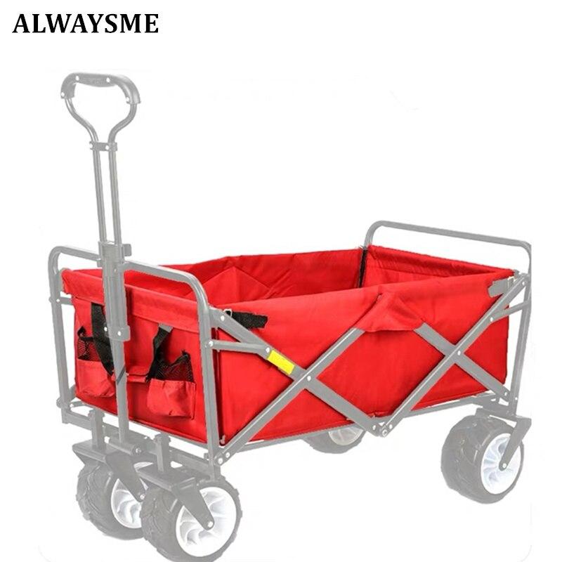 ALWAYSME сверхпрочный полиэфирный садовый полезный вагон-тележка для садового хозяйства вагон-тележка