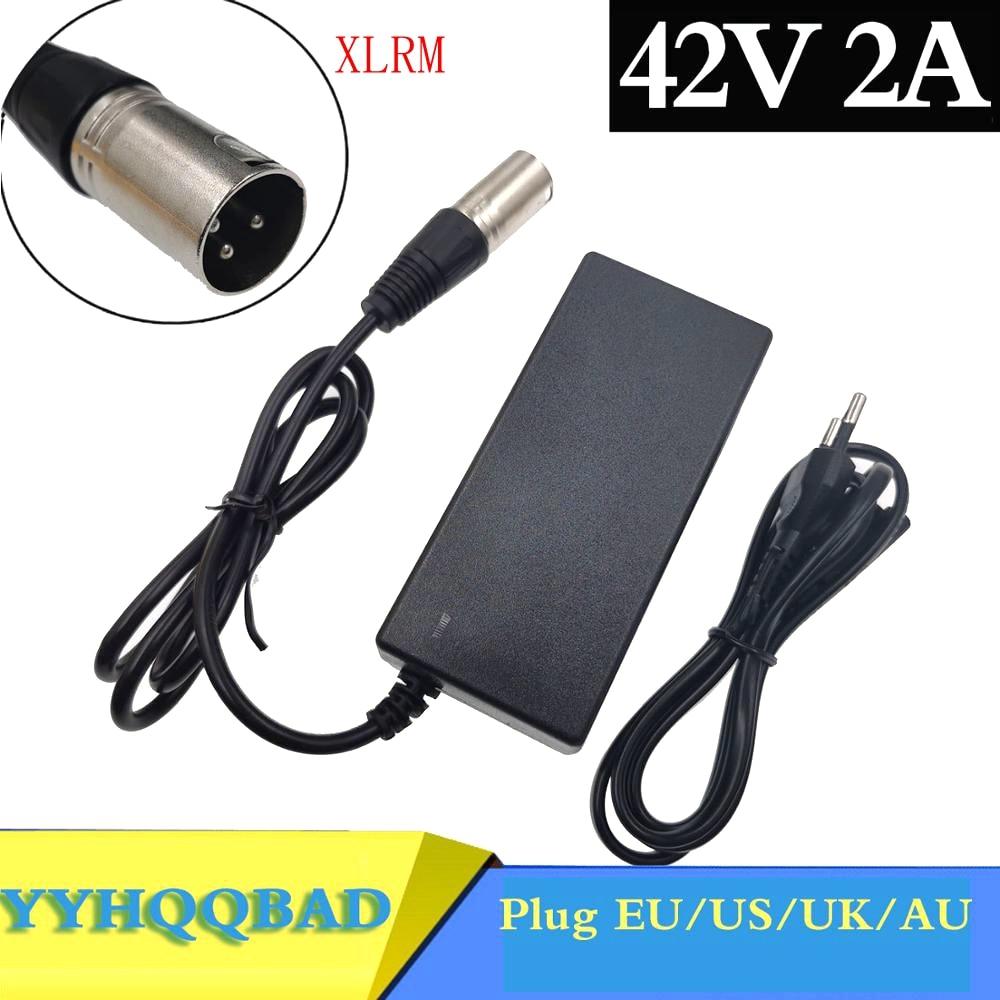 Зарядное устройство для электрического велосипеда, литиевое зарядное устройство для 36 В, 42 в, 2 А, С 3-контактным разъемом XLR