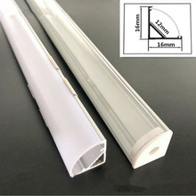 45-Degree-Angle Strip-Channel Led-Strips Aluminum-Profile Milky 5630 White/transparent-Cover