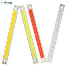 [Sumbulbs] 120 мм, красный, синий, белый светодиод DRL, COB-лента, источник освещения, 10 Вт, 12 В постоянного тока, лампа для самостоятельной сборки, авто...