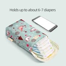 Baby Diaper Bag Organizer Reusable Waterproof Fashion Prints Wet/Dry Cloth Bag Mummy Storage Bag Travel Nappy Bag