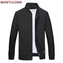MANTLCONX Autumn Mens Jackets Casual Coats Solid Color Zipper Jacket Male Men Outerwear