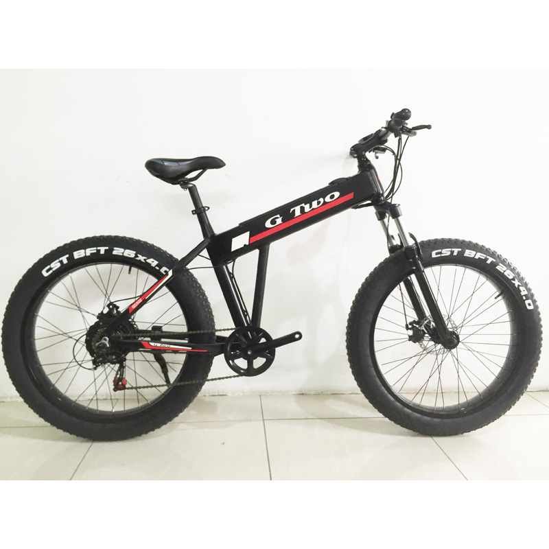 26 Inches Electric Bicycle 350W Brussless Motor Hidden Battery Fat font b Bike b font Aluminum