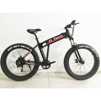 26 Inches Electric Bicycle, 350W Brussless Motor, Hidden Battery Fat Bike,Aluminum Alloy Frame E Bike