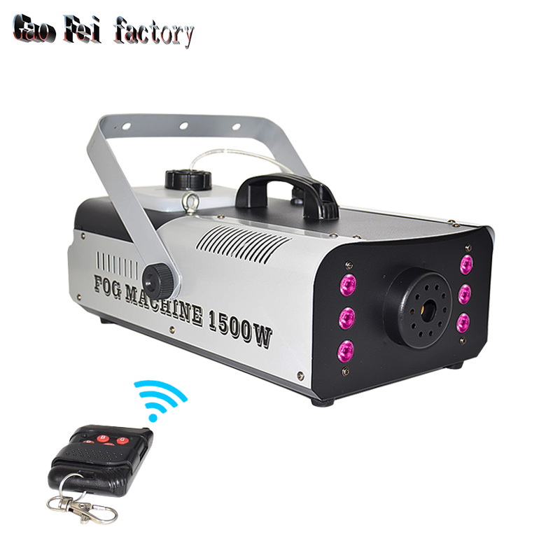 Remote/Wire Control 1500W Smoke Machine For Stage Peformance 1500w Fog Machine DJ Equipment For Home Party Factory Sale