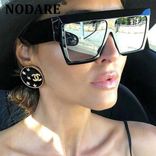 NODARE 2020 New Square Sunglasses Women Men Big Frame Fashio
