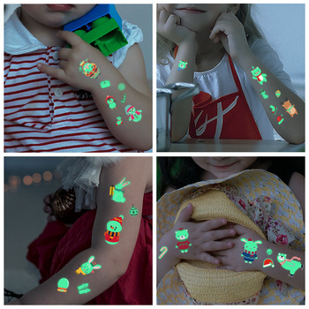 Christmas Shiny Luminous Tattoos Stickers