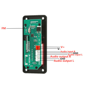 Image 2 - 5V 12V MP3 modülü WMA MP3 dekoder kurulu büyük renkli ekran 12V kablosuz Bluetooth 5.0 ses modülü USB TF radyo araba için kayıt