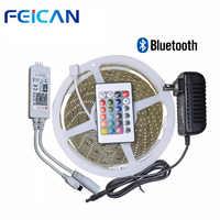 SMD2835 RGB LED Streifen 60 Leds/m Bluetooth RGB LED controller 24key IR Fernbedienung 12V Power Adapter wasserdichte led streifen kit