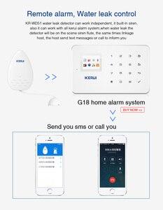 Image 5 - KERUI WD51 120dB czujnik alarmowy wycieku wody elektroniczny wykrywacz nieszczelności dla domu Wifi Alarm Gsm