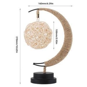 Image 3 - Rękodzieło LED lampka nocna księżyc lampa gwiezdna Retro dekoracyjna lampa stołowa prezenty na urodziny, boże narodzenie dekoracje weselne