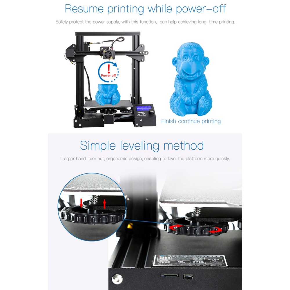 Shop Newest Ender 3 Pro 3d Printer With Magnetic Build