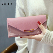 Long Wallet Leather Purse Multi-Functional Ladies Card-Holder Cluth Fashion Women Package