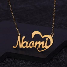 Personalized Custom Name Necklace Stainless Steel Pendant Gold Color Chain Customized Nameplate Necklaces for Women Men Gifts(China)