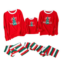 Family Christmas Pajamas Set Mother Daughter Son Father Matching Clothes A of Three