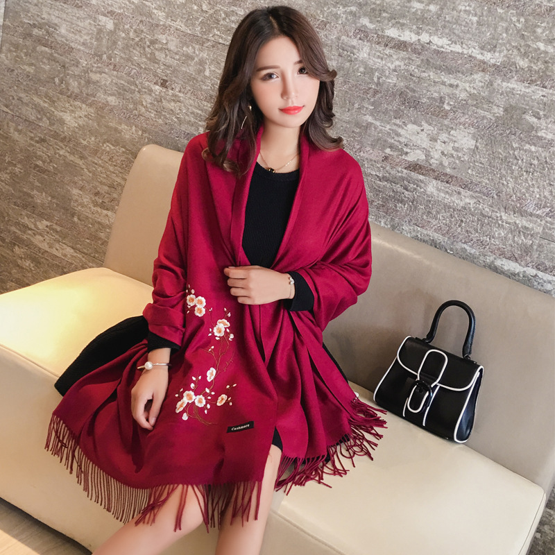 2019 New Arrival Cashmere Scarves Women Winter Thick Warm Wool Scarf Shawl Wrap Hot Sale