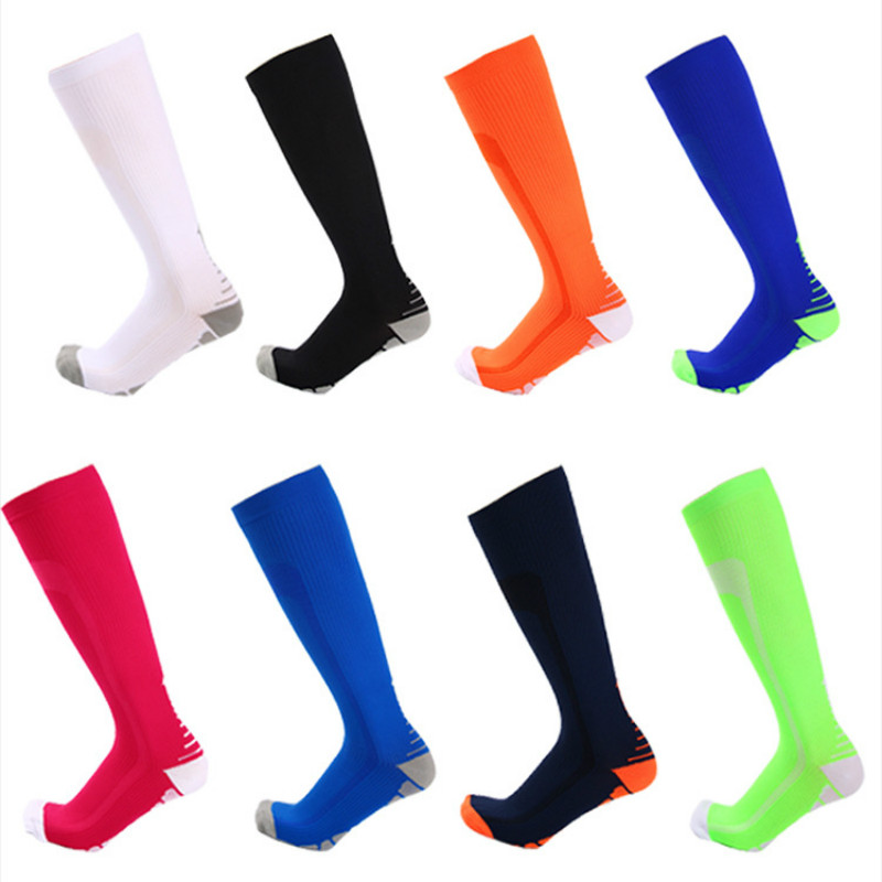 Compression Men Women Sport Running Socks Long Knee Football Soccer Socks Performance Sock