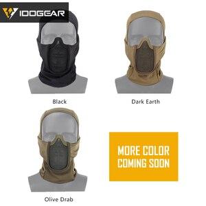 Image 5 - IDOGEAR Tactische Bivakmuts Masker MESH Airsoft Mask Full Face Airsoft Masker Camo Beschermende kleding 3612