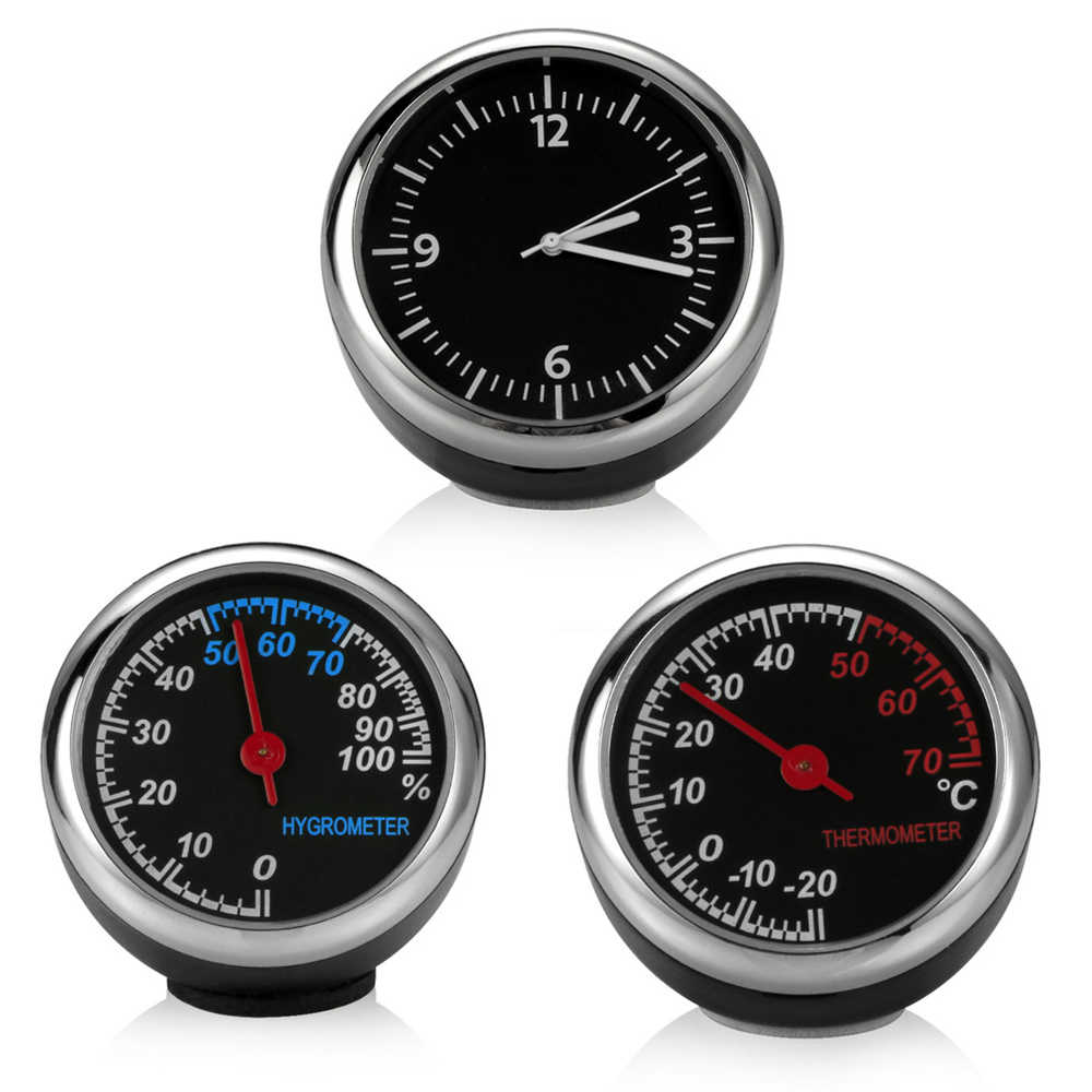 Mini Car Automobile Digital Clock Auto Watch Automotive Thermometer Hygrometer Decoration Ornament Clock In Car Accessories