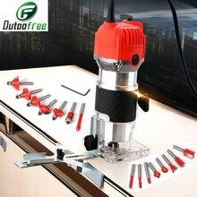 Hand Carving Maschine Elektrische Trimmer Holz 220V EU Stecker 30000rpm Holz Router Trimmen Leder Holzbearbeitung DIY Bohrer Power werkzeuge