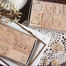 1 juego Vintage flores inglesas decoración sello sellos de goma de madera para scrapbooking papelería DIY artesanía sello estándar