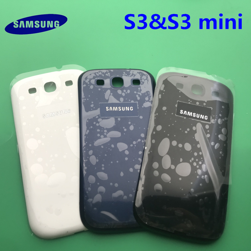 New Samsung S3 Rear Housing Case For Samsung Galaxy S3 i9300 i9305 i9300i i747 S3 mini <font><b>i8190</b></font> <font><b>Battery</b></font> Cover Door Rear <font><b>Back</b></font> Cover image
