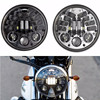 Brightest DOT Approved DRL 5-3 4inch 5 75inch Round LED Projection Headlight for Harley Dyna Sportster Softail Motorcycles Black Silve promo