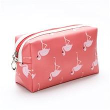 Flamingo Cosmetic Bag 2019 Women Necessaire Make Up Bag Travel Waterproof Portable Toiletry Makeup Case Travel Wash Storage Bag все цены