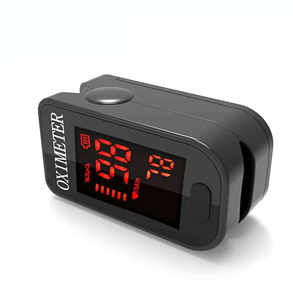 Finger Oximeter Blood Oxygen Saturation Monitor With Lanyard High-definition LED Display Fit For Your Health