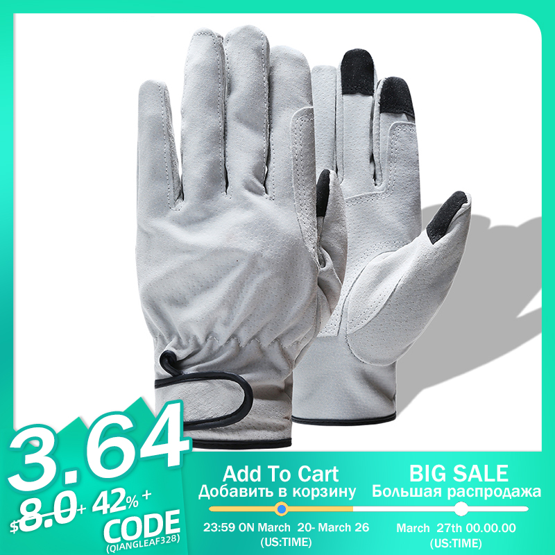 QIANGLEAF Brand Product Pig Split Leather Welding Work Gloves Wear-resistant Safety Gloves For Workers Leather Working Glove 321