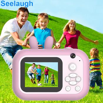 Aparat natychmiastowy dla dzieci aparat fotograficzny natychmiastowy aparat fotograficzny dla dzieci aparat fotograficzny 1080p cyfrowy aparat zabawka na świąteczny prezent Seelaug tanie i dobre opinie SEELAUGH Z tworzywa sztucznego CN (pochodzenie) 3 lat Lithium Battery Unisex Zasilanie bateryjne Edukacyjne Brzmiące