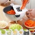 Горячая Многофункциональный волшебный вращающийся Овощной резак слайсер измельчитель портативный Терка кухонный инструмент hogard
