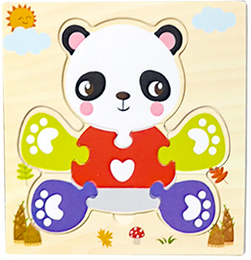 Baby Toys Wooden 3d Puzzle Tangram Shapes Learning Cartoon Animal Intelligence Jigsaw Puzzle Toys For Children Educational 14
